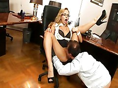 Anal Blonde Anal Sex Blonde Blowjob Caucasian Couple Cum Shot Glasses High Heels Office Oral Sex Secretary Vaginal Sex Aleska Diamond George Uhl