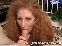 redhead milf mature blowjob cumswallow sperm swall