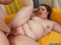 Fat Hardcore Mature Mature MILF Natural tits Red Head