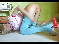 Russian Teen Nymphs Experimenting With Toy