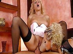 Anal Group Blonde Lingerie Anal Sex Blonde Blowjob Caucasian Cum Shot Glamour High Heels Licking Vagina Lingerie Oral Sex Stockings Threesome Vaginal Sex Ellen Saint Nikki Sun