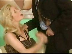 stockings cumshot hardcore blonde blowjob shaved pussyfucking sextoys