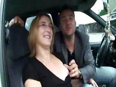 Tony and Mahita  a young couple of thirties  wanted to make a hot video  Appointment is made on the parking of Alencon  where Tony starts to touch his wife in the car  After a while  we had to leave because too many people were around     