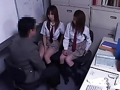 Asian Schoolgirls Threesome