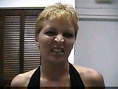 blonde shorthair milf blowjob gagging pussyfucking condom POV ontop bigtits shaved tattoo handjob cumshot cuminmouth hardcore
