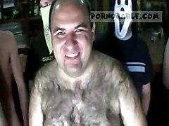 latina oiled blowjob gangbang