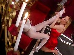 Big Tits Lesbian Blonde Lingerie Big Tits Blonde Caucasian High Heels Kissing Lesbian Lingerie Pantyhose Stockings Chennin Blanc