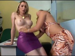 Sabrina Gets Her Dick Sucked By A Girl