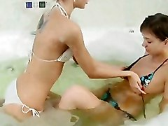Bathroom Bikini Lesbian