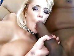 Double Penetration Interracial fishnet hot blonde lingerie