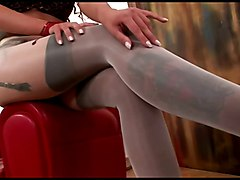 Foot Fetish Masturbation Stockings
