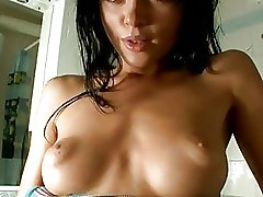Upclose Pussy Spreading And Masturbation In The Sh