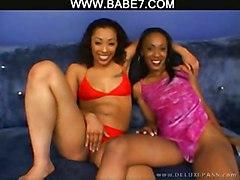 cumshot black hardcore blowjob shaved threesome ebony blackwoman pussyfucking