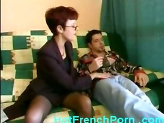 anal stockings cumshot facial blowjob mature glasses asstomouth pussyfucking french shorthair