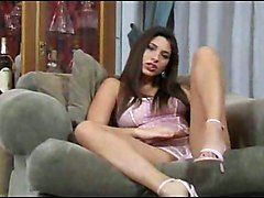 brunette rubbing couch foot fetish ass cumshot babe lingerie tight teasing panties small tits european