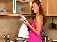 Kitchen Masturbation Adventures With Horny Babes