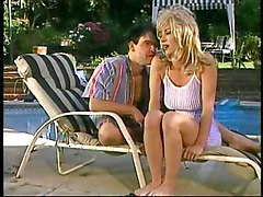 Watching Horny Blond Action At The Pool