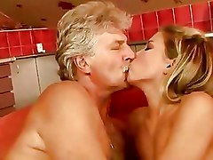 Old Farts Small Tits Teen blonde blowjob grandpa