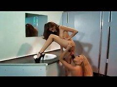 Naughty Lesbians In Toilet