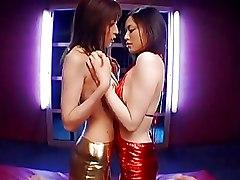 Asian Kissing Lesbian