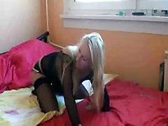 Hot Blonde Girl In Pantyhose Having Sex
