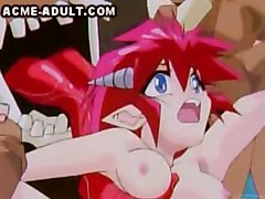 A large hentai skull creature made of muscle and a LOT of tongue  is violating a sexy pink haired female   His tongue plays with her tits and nipples  and penetrates her pussy