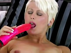 dildo blonde milf mature toy masturbating solo orgasm cougar anilos