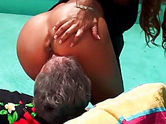 Ebony Interracial Blonde Blonde Blowjob Couple Cum Shot Ebony Interracial Licking Vagina Oral Sex Outdoor Pool Position 69 Vaginal Sex