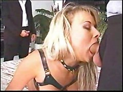 anal stockings cumshot blonde blowjob doublepenetration pussyfucking gangbang cumshort