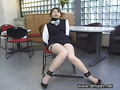 uniform asian domination bdsm fetish secretary pantyhose bondage submission slave leather kinky restraints collar chains