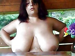 Mega Big Tits Milf Outdoor