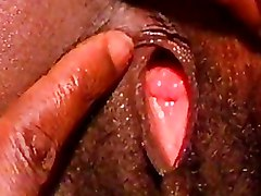 Closeups Ebony Pussy bedroom black clit