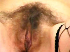 dildo brunette mature masturbation solo hairypussy