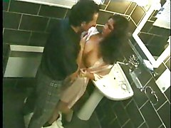 Anal Anal Sex Bathroom Black-haired Blowjob Caucasian Couple Cum Shot Licking Vagina Oral Sex Vaginal Sex