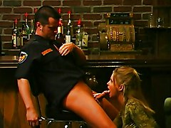 MILF Blonde Blonde Blowjob Boots Caucasian Couple Cum Shot Licking Vagina MILF Oral Sex Police Uniform Vaginal Sex