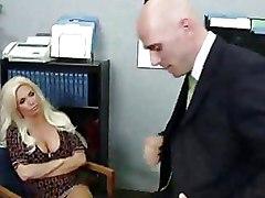 Mature School big tits busty blonde