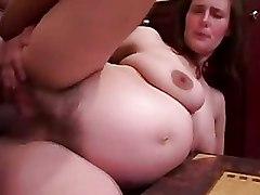 Hairy Pregnant blowjob cumshot