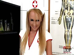 nurse anal blonde milk enema