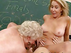 Classroom Mature Threesome blonde ffm