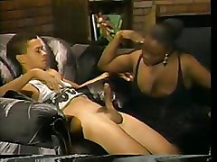 BBW Interracial blowjob mom and boy