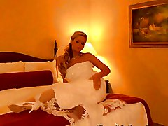 Brides Mature white stockings