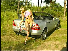 Public Masturbation Blonde Blonde Car Caucasian Masturbation Public Shaved Solo Girl Vaginal Masturbation