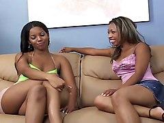 Black and Ebony Lesbians Strapon
