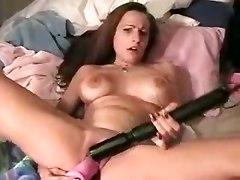 brunette big tits toys dildo masturbation squirting fingering orgasm fetish solo squirt