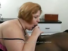interracial bbc bbw redhead blowjob titfuck titty