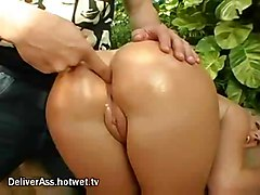 blonde oiled fingering bigass