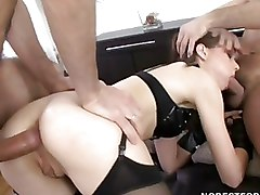 Double Penetration Group Sex Stockings
