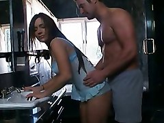 Housewives Kitchen blowjob busty cumshot facial house wife wife