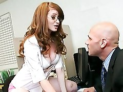 Office Redheads Secretaries cumshot oral redhead secretary blowjob swallowing
