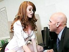 Office Redheads Secretaries cumshot oral redhead secretary blowjob swallowing